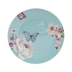 Accessorize Fine Porcelain Cake Plate, Blue