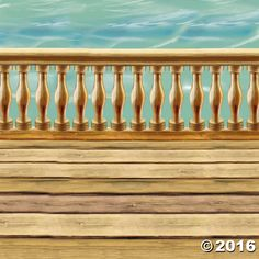 Design-A-Room Pirate Deck Background. This pirate deck background decoration helps set the scene for a party on the high seas! Transform a room in minutes! ...