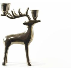 Vintage Deer Candle Holder, Christmas Deer Decoration, Silver Deer,... (€27) ❤ liked on Polyvore featuring home, home decor, candles & candleholders, deer home decor, chrome home decor, silver home decor and silver home accessories