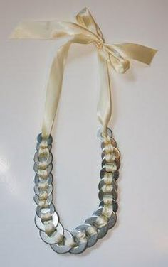DIY Jewelry DIY Necklace DIY: Anni Albers Washer Ribbon Necklace