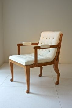 Du Plantier armchairs 1936 oak with original patina 53 x 69 x 80H