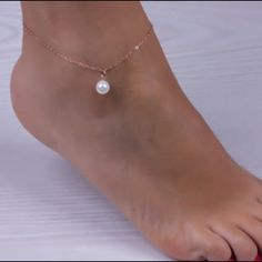Gold Pearl anklet! Beautiful anklet, brand new! Jewelry