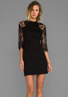 BB Dakota Princeton Ponte Dress w/ Lace Sleeves on shopstyle.com