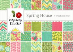 Spring House Charm Pack by Stephanie Ryan for Moda - One Charm Pack - 7170PP. $8.50, via Etsy.