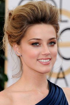 Amber Heard At The Golden Globes In LA, 2014