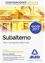 SETEMBRE-2017. Teresa Torres. Subalterno. Test y supuestos prácticos. TREBALL 35 SUB