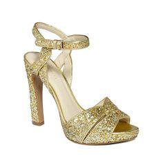 Image result for Nine West Hotlist Heel Gold Glitter
