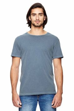 Alternative Mens Heritage Garment Dyed Cotton Distressed T-Shirt
