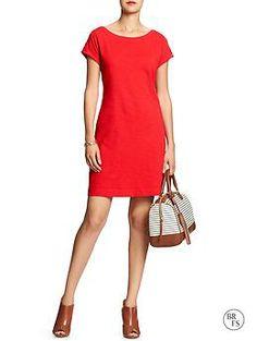 Factory Solid Slub-Knit Dress