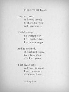 More Than Love~Lang Leav