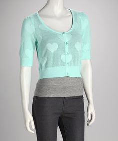Take a look at this Sea Spray Heart Cropped Cardigan by Love By Design on #zulily today!