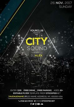 City Sound Party Free Flyer Template - http://freepsdflyer.com/city-sound-party-free-flyer-template/ Enjoy downloading the City Sound Party Free Flyer Template created by Stockpsd!  #City, #Club, #Dance, #Dj, #EDM, #Electro, #Elgant, #Event, #Night, #Nightclub, #Party, #Show, #Sound, #Urban