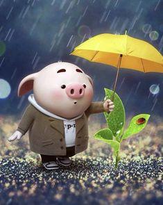 This Little Piggy, Little Pigs, Pig Wallpaper, Cute Piglets, Invitation Background, Baby Pigs, Brainstorm, Digital Illustration, Hello Kitty