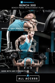 Meet your ultimate guide to benching 300 pounds. Get this and 45 more bodybuilding plans, only from Bodybuilding.com All Access! http://www.diabetesdestroyedbonus.com/