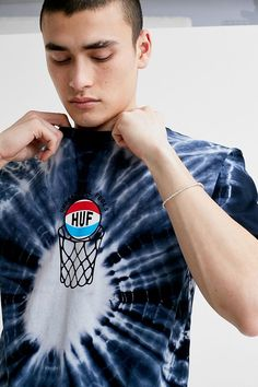 Shop HUF Ungrateful Fools Blue Tie-Dye Short-Sleeve T-Shirt at Urban Outfitters today. Fast Fashion, Pop Fashion, The Colour Of Magic, Urban Outfitters, How To Tie Dye, Tie Dye Shirts, Blue Tie Dye, Short Sleeve Tee, Fitness Models