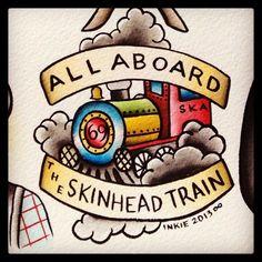 Skinhead Train Old School Tattoo #skinhead #tattoo #train #oldschool: