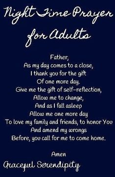 Night Time Prayer for Adults A simple prayer made with adults in mind, to say to God before you go to sleep. Good Prayers, Simple Prayers, Special Prayers, Prayers For Healing, Angel Prayers, Good Night Prayer Quotes, Good Morning Prayer, Morning Prayers, Night Quotes