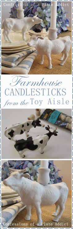 I love adding farm animals to my décor! There is just something so serene and peaceful about them! And…I have been eyeing some candlesticks ...