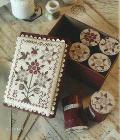 Primitive Folk Art Cross Stitch Leaflet  by PrimFolkArtShop, $9.00