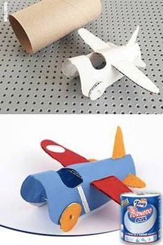 ¡La imaginación al poder! Convierte un rollo de papel usado en un avión de juguete para tus pequeños. Y si además compartes con ellos el proceso de elaboración, la diversión se multiplica y ellos aprenden contigo.