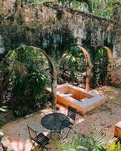 Hacienda Sta. Rosa Maxcanu Outdoor Furniture, Outdoor Decor, Hammock, Home Decor, Pink, Haciendas, Decoration Home, Room Decor, Hammocks