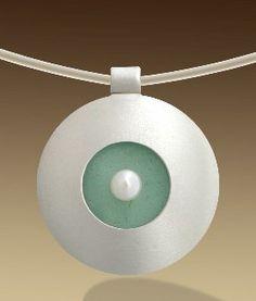 Mar Jewelry - Circular Sea Glass Pendant