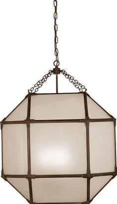 Morris Antique Zinc Lantern - Frosted Glass - Visual Comfort | Tonic Home  600