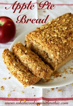 Recipes - Apple Pie Bread Recipe at the36thavenue.com All the way delicious!