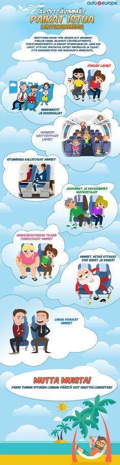 Mikä meitä ärsyttää lentokentillä - Muut infografiikkamme löydät täältä: www.autoeurope.fi