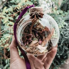 Yule Ornament Tree Decor Witch Ball Terrarium Wall Decor Hanging Decoration by Sagoda Yule Crafts, Wiccan Crafts, Wiccan Decor, Pagan Christmas, Christmas Crafts, Christmas Bulbs, Harry Potter Christmas Decorations, Yule Decorations, Yule Celebration