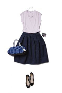 Navy and violet