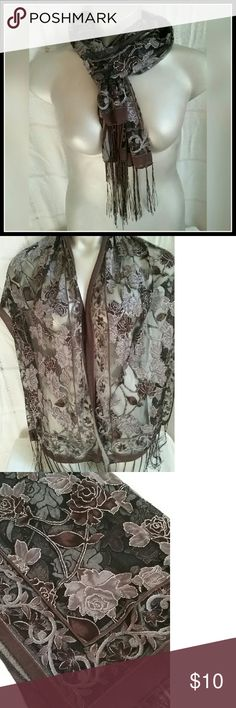 """BOGO Rose scarf Shepard Rose scarf,  measures 62""""x38"""". . Buy one scarf,  get one of equal or less value half off.  Tag me on the one you want,  I will make a listing Accessories Scarves & Wraps"""