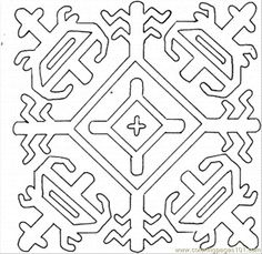 Mosaic Templates Printable | free printable coloring page Snowflake (Other > Pattern)