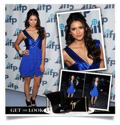 """Get the look - Nina Dobrev Outfit"" by bebushkaj ❤ liked on Polyvore featuring mode en Giuseppe Zanotti"