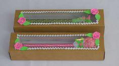 Embalagem para canetas decoradas