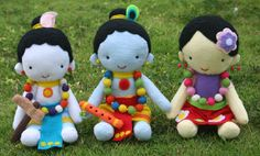 Felt Krishna Dolls inspiration. Get any simple doll pattern and make your own. A nice project for teenagers!