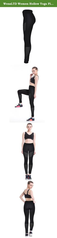 """WensLTD Women Hollow Yoga Fitness Leggings Running Gym Stretch Sports Pants Trousers (L). Gender:Women Item Type:Cropped Trousers,Yoga Season:All the year round Fit Type:Straight Waist Type:High Thickness:Standard Pant Style:Pants, Tights, Leggings Front Style:Flat Style:Casual Sport: Yoga/Jogging Material:spandex Weight:158-175G(S~XL) Package include:1*Women shorts(Not including vest) Asian Size:S Waist:62-72cm/24.4-28.3"""" Hips:80-90cm/31.5-35.4"""" Length:93cm/36.6"""" Asian Size:M..."""
