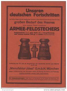 Original-Werbung/ Anzeige 1915 - 1/1-SEITE: ARMEE - FELDSTECHER / MANUFAKTUR IDEAL MÜNCHEN - ca 200 X 280 mm