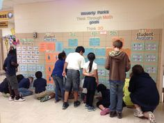 Make a central location in your school where you post student achievement. These student's make it a habit to check out the TTM Math Goals wall. Think Through Math, Teaching Math, Teaching Ideas, 6th Grade Ela, Student Motivation, Classroom Resources, Classroom Ideas, Leadership, Science