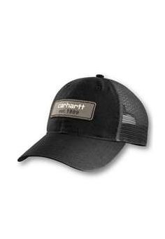 Carhartt Mens Logo Patch Mesh Back Cap - Black | Buy Now at camouflage.ca
