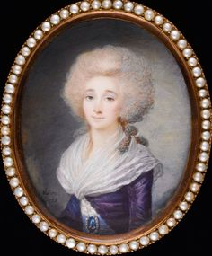 Miniatura de Madame Elisabeth ,por Maximillien Villers 1788
