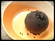 Paleo Black Sesame and Coconut ice cream with Thermomix