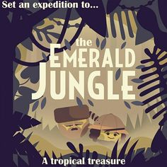 Two Dots Emerald Jungle Two Dots Game, Games Jungle, Images And Words, Creative Posters, Vintage Tees, Game Art, Tropical, Animation, Drawings