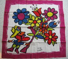 Vintage Cub 1974 cotton souvenir scarf.