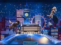 """""""Noël, Voyage Magique par Burberry"""" - vitrines du Printemps Haussmann, 2014"""