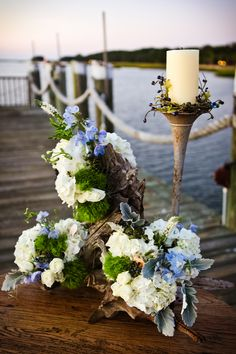 Nautical-Hydrangea-Wedding-Centerpiece