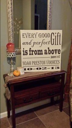 Nursery wooden sign