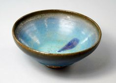 A Chinese Junyao bowl, Yuan Dynasty, covered with blue - Jun 2014 Chinese Bowls, Jun, Glaze, Decorative Bowls, Pottery, Ceramics, London, Cover, Enamel