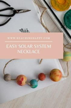 Simple Space Themed Activity Solar System For Kids, Diy Solar System, Solar System Projects, Space Activities For Kids, Stem Activities, Creative Arts And Crafts, Easy Crafts, Steam Education, Social Studies Classroom