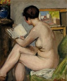 Albert André (French, Oil on canvas. André, a post-impressionist figurative painter, exhibited in 1894 five paintings at the Salon des Indépendants where he caught the eye of. People Reading, Woman Reading, Love Reading, George Daniel, Renoir, Rembrandt, Michel Martin, Poussin Nicolas, Carpeaux